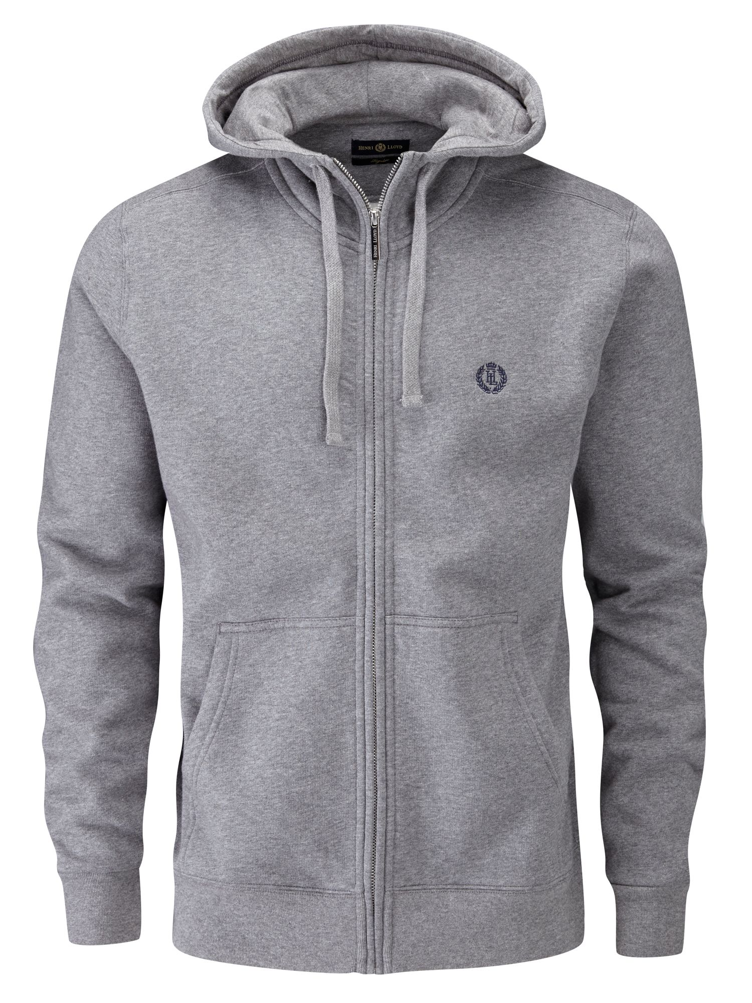 Men's Henri Lloyd Bredgar Full Zip Sweat, Grey Marl