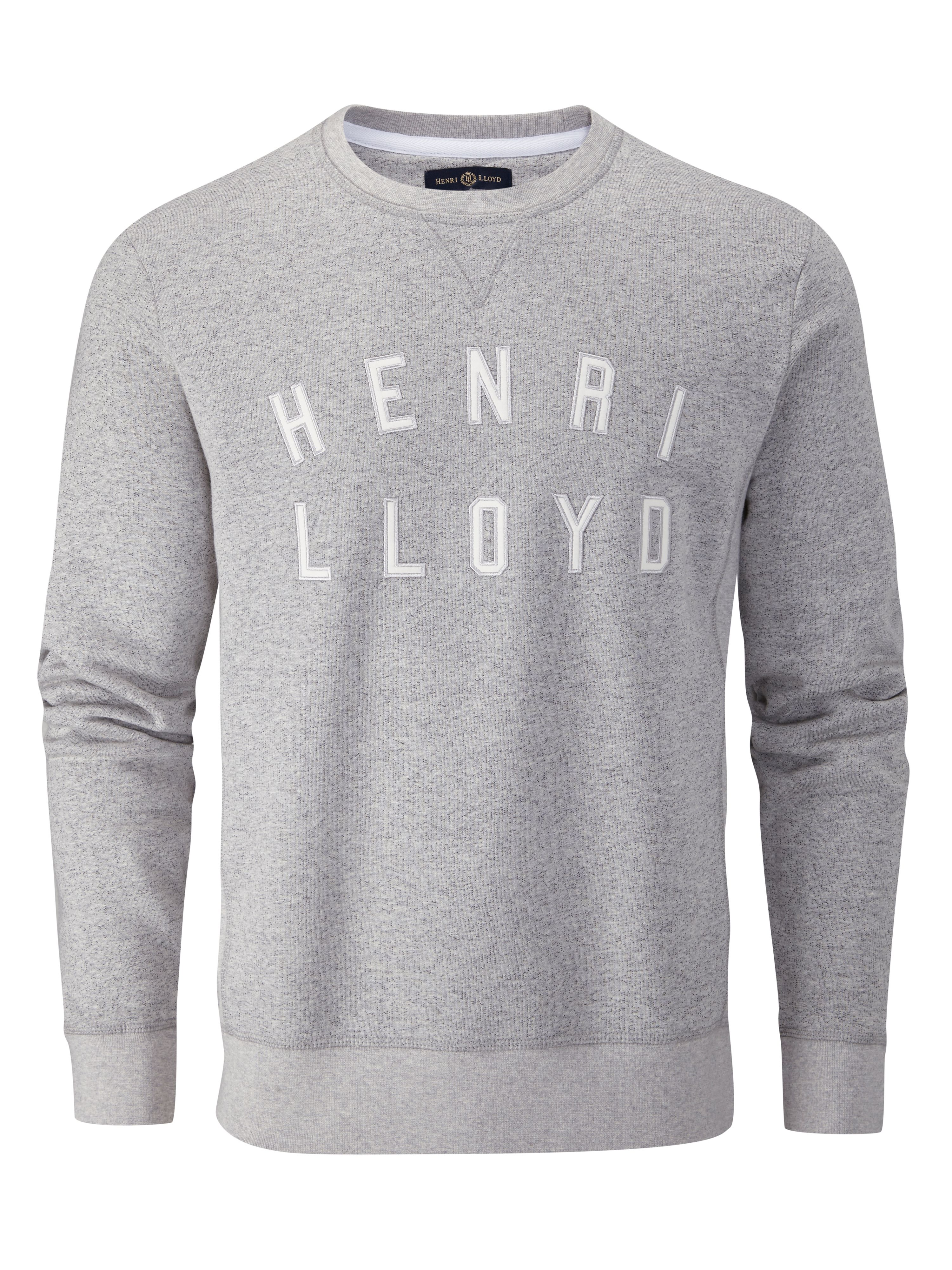 Men's Henri Lloyd Adderly Crew Sweat, Grey Marl