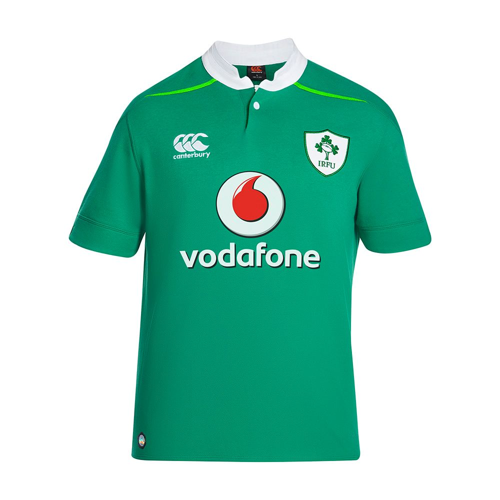 Men's Canterbury Ireland Home Classic Rugby Jersey, Green