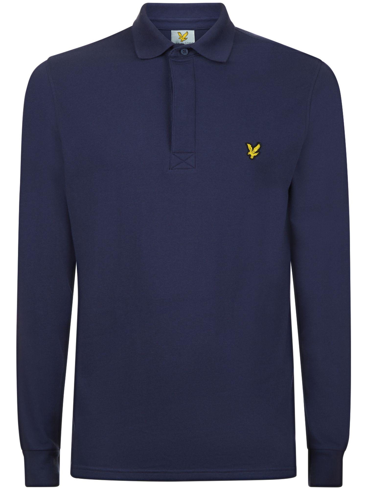 Men's Lyle and Scott Harris Long Sleeve Polo, Blue