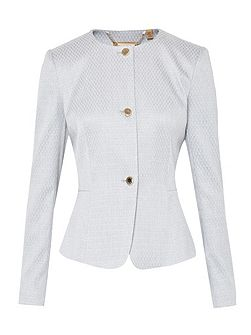 Ted Baker Eiraa Textured peplum suit jacket