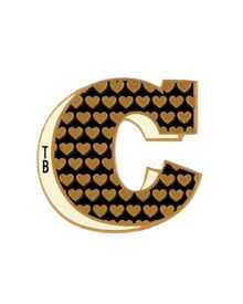 Alphac Stuck on You letter C sticker