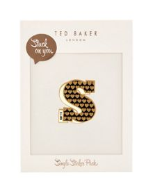 Ted Baker Alphas Stuck on You letter S sticker