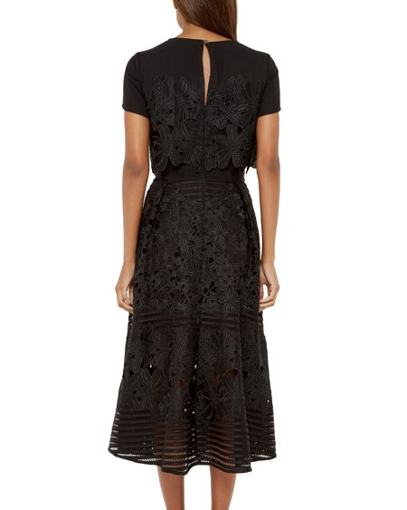 Ted Baker Jenelle Layered lace midi dress