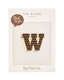 Ted Baker Alphaw Stuck on You letter W sticker