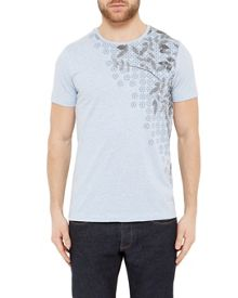 Ted Baker Lefgeo Leaf Print Cotton T-Shirt