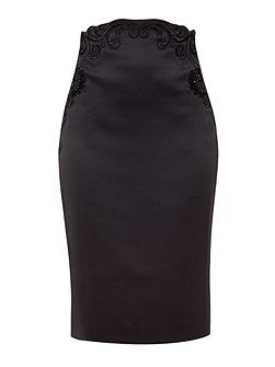 Camryn Embroidered Pencil Skirt