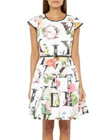 Ted Baker Lusara Floral A-Z skater dress