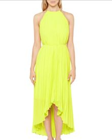 Ted Baker Pagia Dipped hem pleated maxi dress