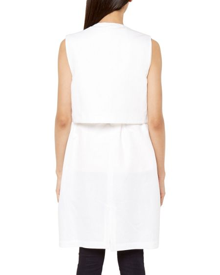 Ted Baker Yolanda Layered sleeveless jacket