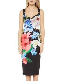 Ted Baker Alexie forget me not midi dress