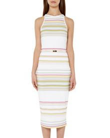 Ted Baker Danabel Striped bodycon midi dress