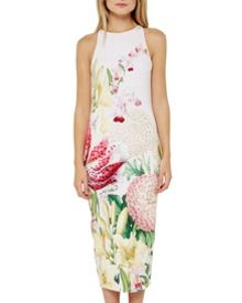 Ted Baker Julee Encyclopedia Floral midi dress