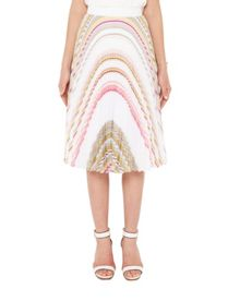 Ted Baker Gaelaa Carousel Stripe pleat midi skirt
