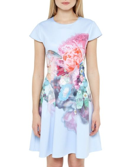Ted Baker Bowkay Focus Bouquet Skater Dress
