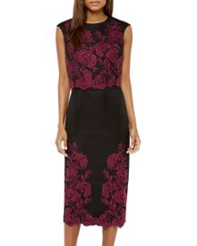 Ted Baker Vynus Embroidered mesh lace crop top