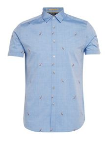 Ted Baker Parroti parrot print cotton shirt