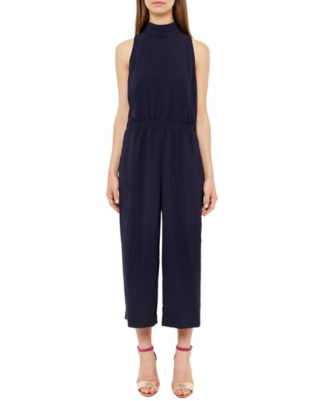 Ted Baker Gwendie High Neck Cropped Jumpsuit