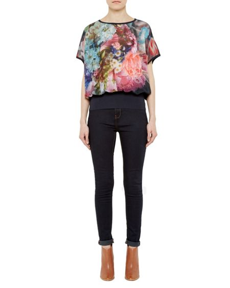 Ted Baker Farligh Focus Bouquet Loose Fit Top