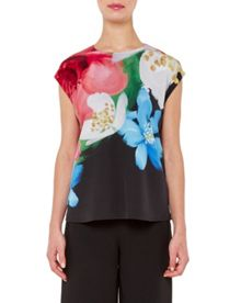 Ted Baker Abree forget me not silk top