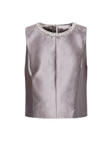 Ted Baker Brazia Embellished metallic crop top