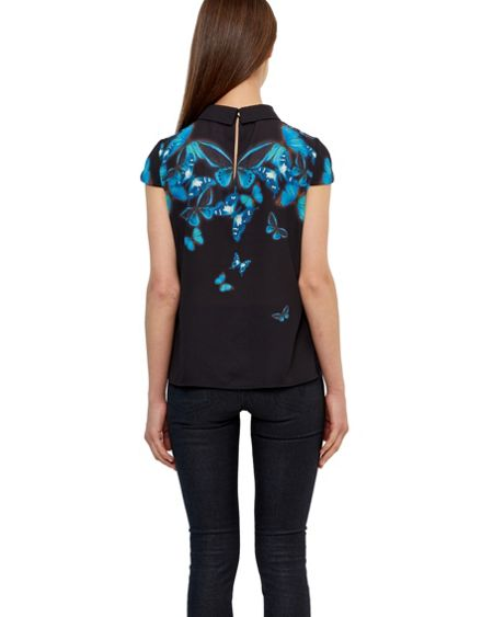 Ted Baker Nealie Butterfly Collective collared top