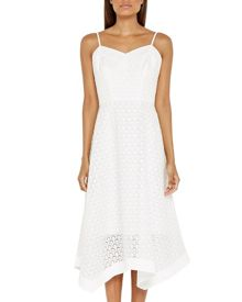 Ted Baker Dariel Broderie asymmetric hem dress