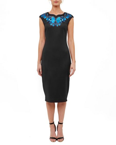 Ted Baker Ashey Butterfly Collective Midi Dress