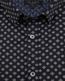 Ted Baker Wenfarh ornate geo print shirt