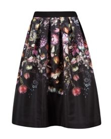Brissat Shadow Floral midi skirt