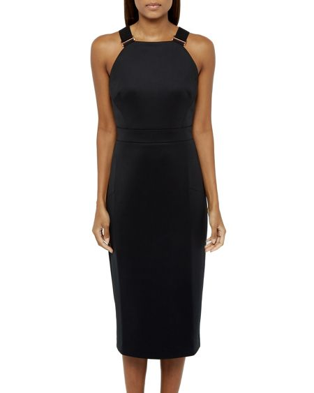 Ted baker andice buckle detail bodycon dress black house of fraser