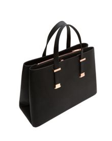 Ted Baker Sevina Micro Bow Crosshatch Leather Tote Bag