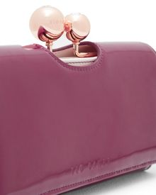 Ted Baker Erianne Leather crystal bobble purse
