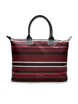 Jazmin Stencil Stripe large tote bag