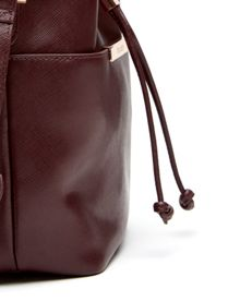 Ersilda leather mini bucket bag