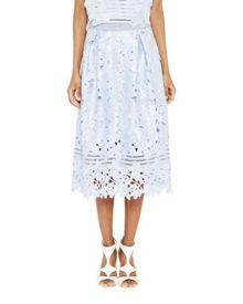 Ted Baker Dynar Floral lace applique midi skirt