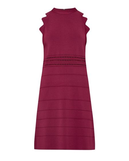 Ted Baker Natleah Scallop Detail Ribbed Dress