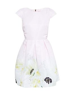 Adaliia Pearly Petal Pleated Dress