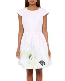 Ted Baker Adaliia Pearly Petal Pleated Dress