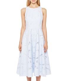 Ted Baker Roshi Burnout Jacquard Midi Dress