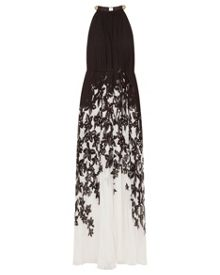 Ted Baker Jolena Floral print pleated maxi dress