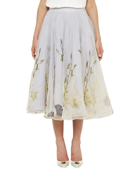 Ted Baker Rahele Pearly Petal Tulle Skirt