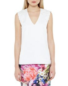 Ted Baker Cimora Embroidered Floral Top