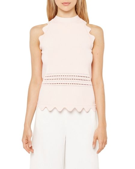Ted Baker Jazma Scallop detail ribbed top