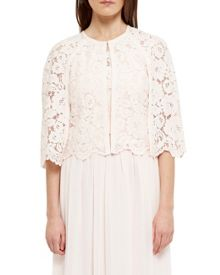 Ted Baker Johdiye Lace Scalloped Hem Cape
