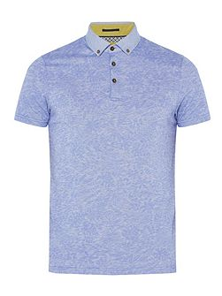 Varilo Floral Printed Cotton Polo Shirt