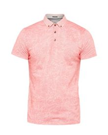 Ted Baker Varilo Floral Printed Cotton Polo Shirt