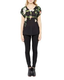 Ted Baker Ina Secret Trellis V-neck top