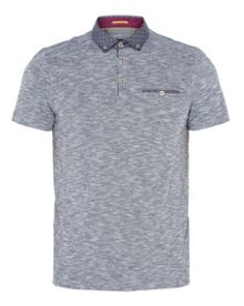 Ted Baker Morean Woven Geo Print Polo Shirt