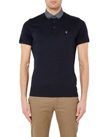 Ted Baker Jeffray woven jersey polo shirt